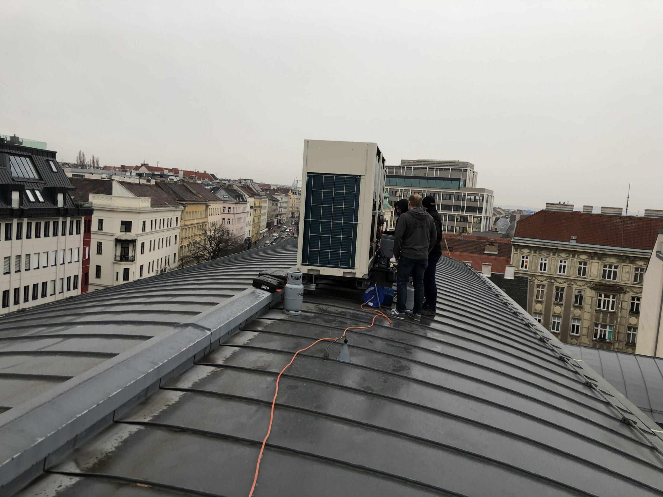 Klimaanlage am Dach