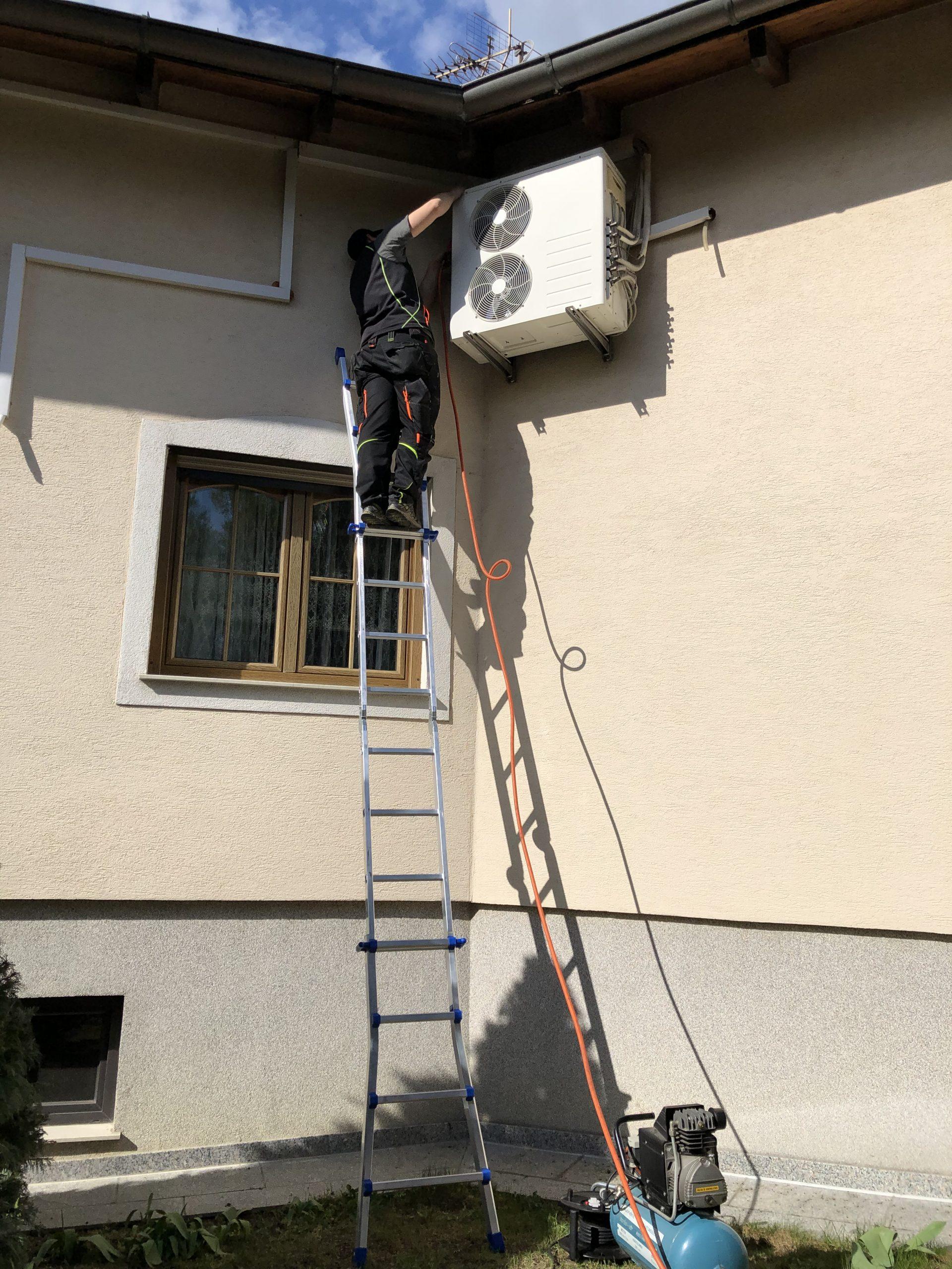 Wartung Klimaanlage Ausseneinheit