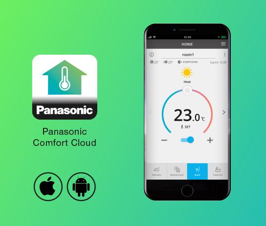 Panasonic Klimaanlage am Handy